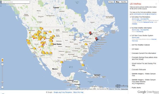 EPC Updates Clash Of Mapping Titans ESRI Versus Google - Us wildfires google map