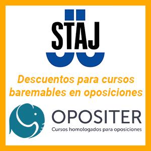 Acuerdo STAJ con OPOSITER: Descuentos para afiliados