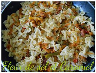 Poêlée légumes au chorizo