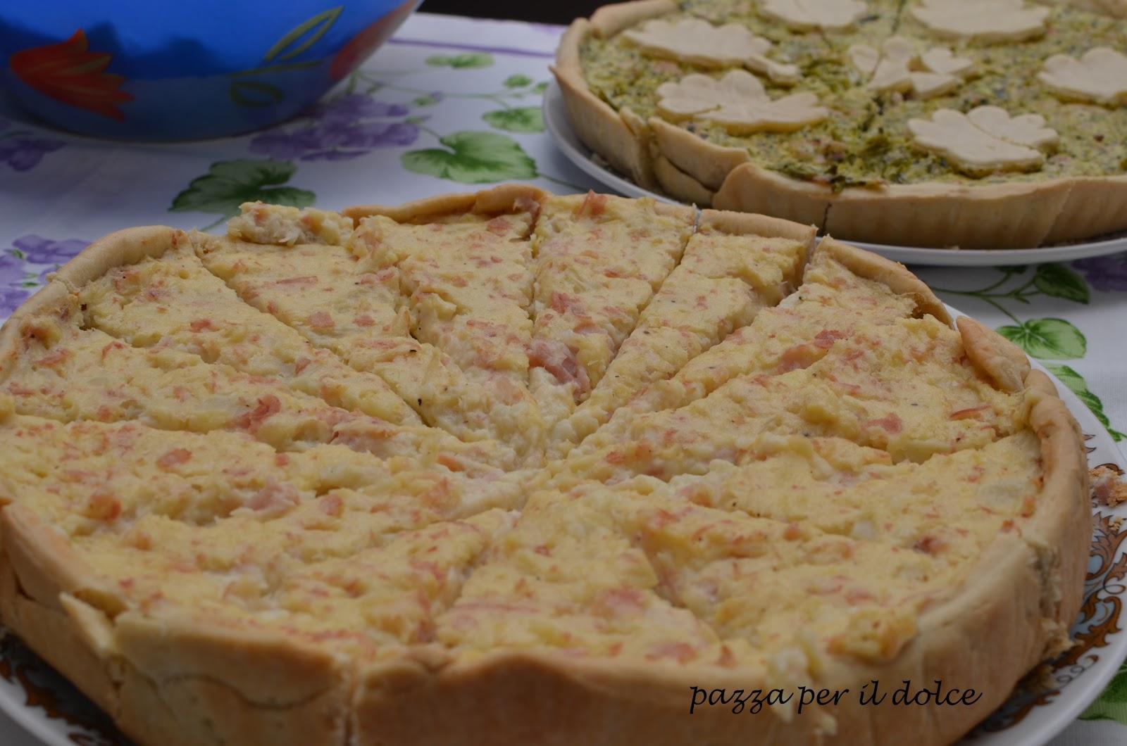 Torta salata pasta brise e ricotta