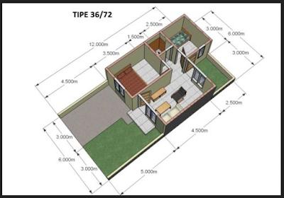 Desain Rumah Minimalis Type 36/72
