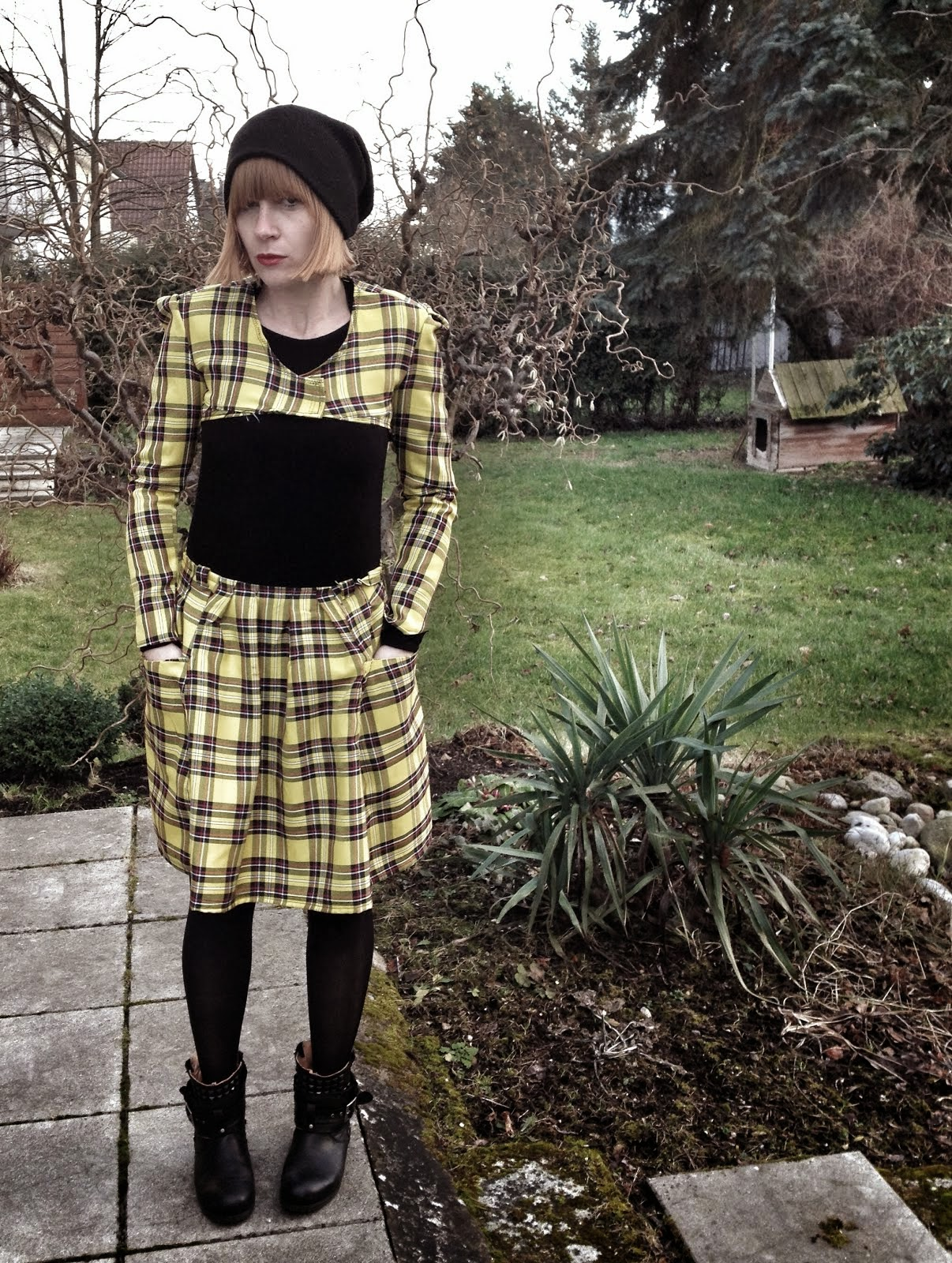 bolero + skirt yellow checks
