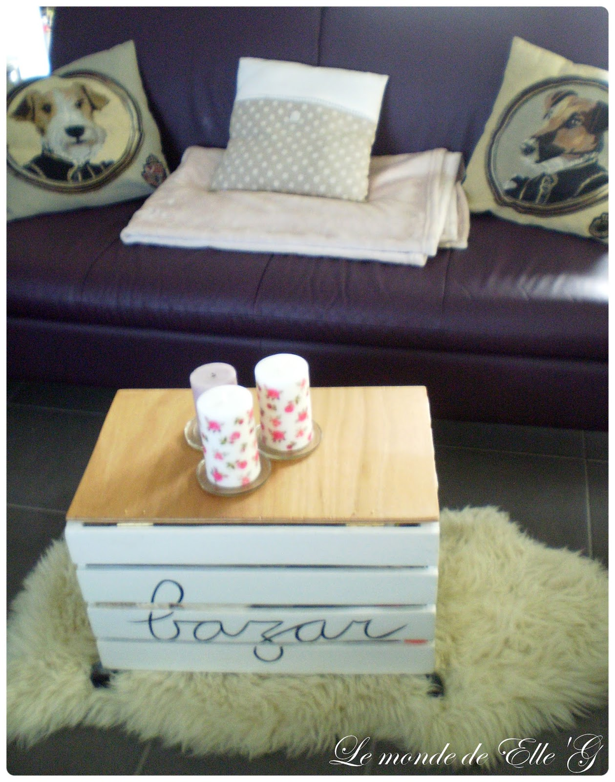 diy table basse cagette le monde de elle 39 g. Black Bedroom Furniture Sets. Home Design Ideas
