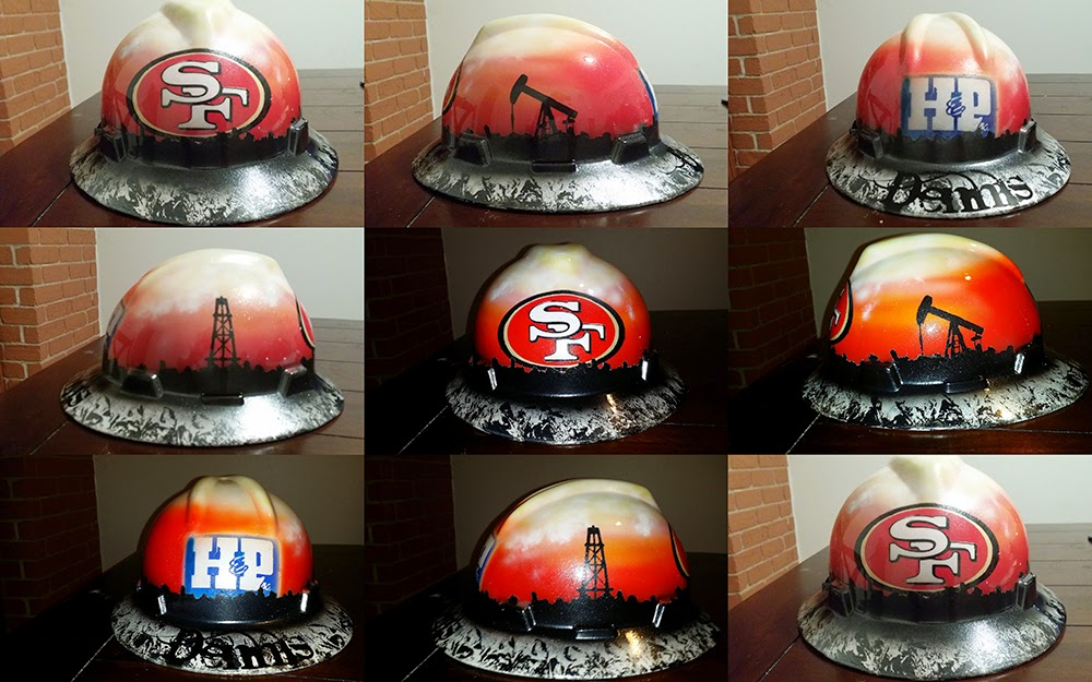 Cool custom painted hard hat san francisco 49ers