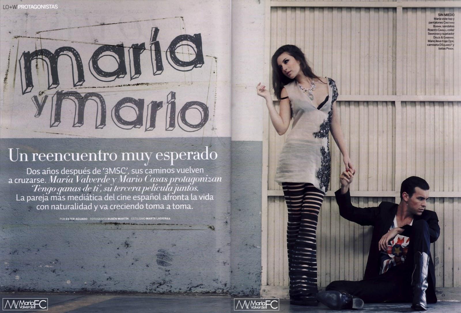 Mario Casas: Mario Casas y María Valverde en la revista Woman