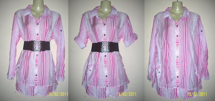 Blouse Pink Jalur - FR26