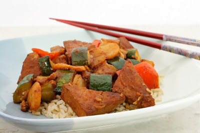 Slow Cooker Chinese Barbecued Tofu and Vegetables