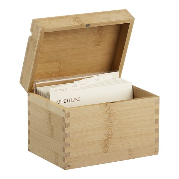 Recipe Cards And Box Box And Recipe Cards