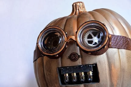 "Steam punk Pumpkin Art ""Jack Catterwall"" by Anne E Weaver"