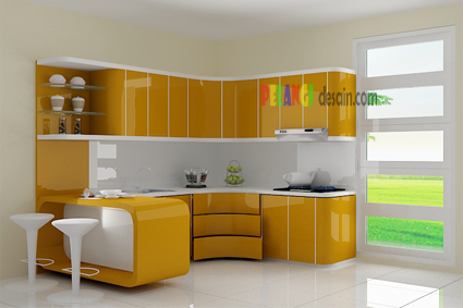 Kitchenset Pelangi Desain Interior Kitchen Set Coklat