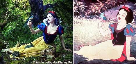 Rachel Weisz Annie Liebovitz Snow White and the Seven Dwarfs animatedfilmreviews.filminspector.com