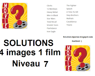 Solution 4 pics 1 film niveau 7