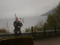 bagpiper Loch Ness Scotland