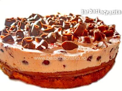 Tort cu creme de visine si de ciocolata reteta