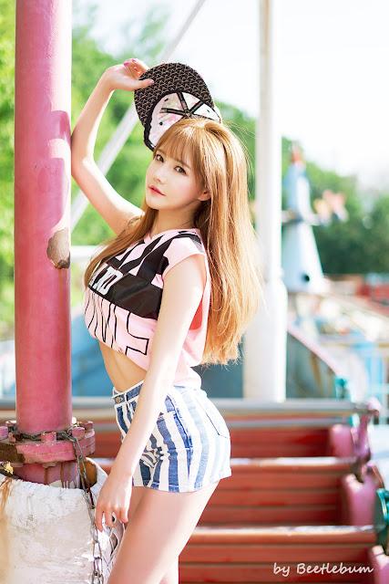 2 Han Ga Eun - Outdoors Photo Shoot At Yongma Land - very cute asian girl-girlcute4u.blogspot.com