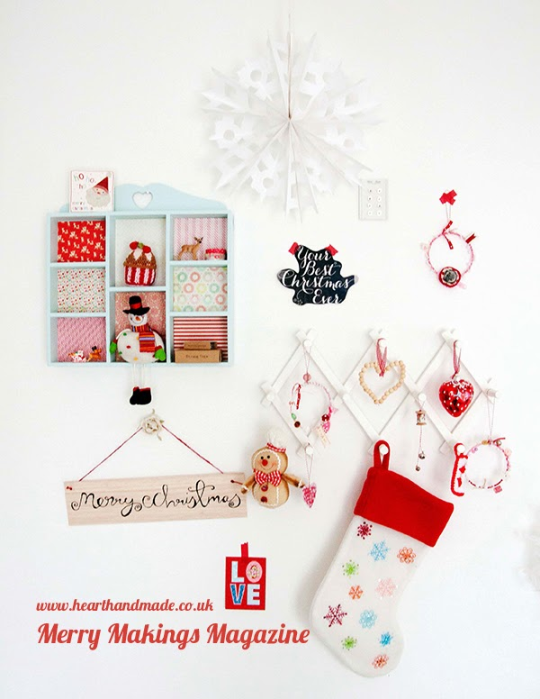 Craft Room Wall for Christmas in Merry makings magazine