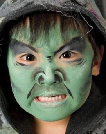 Moda para Peques Maquillaje de Halloween para Nios 2015