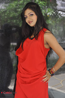 Kushi Mukerjee Latest Pictures in Red Short Dress at Donga Prema Movie Opening 0002