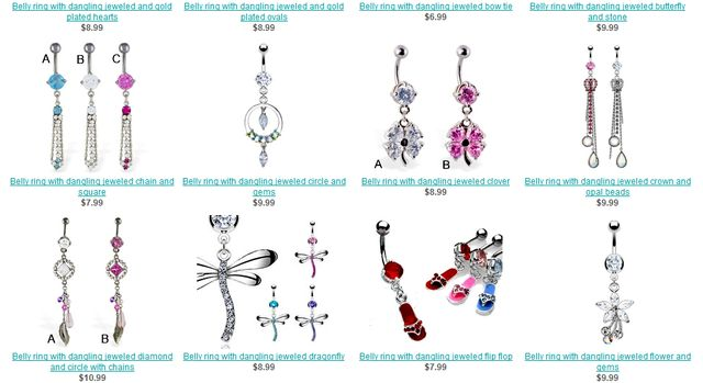 Designer navel jewelry for you