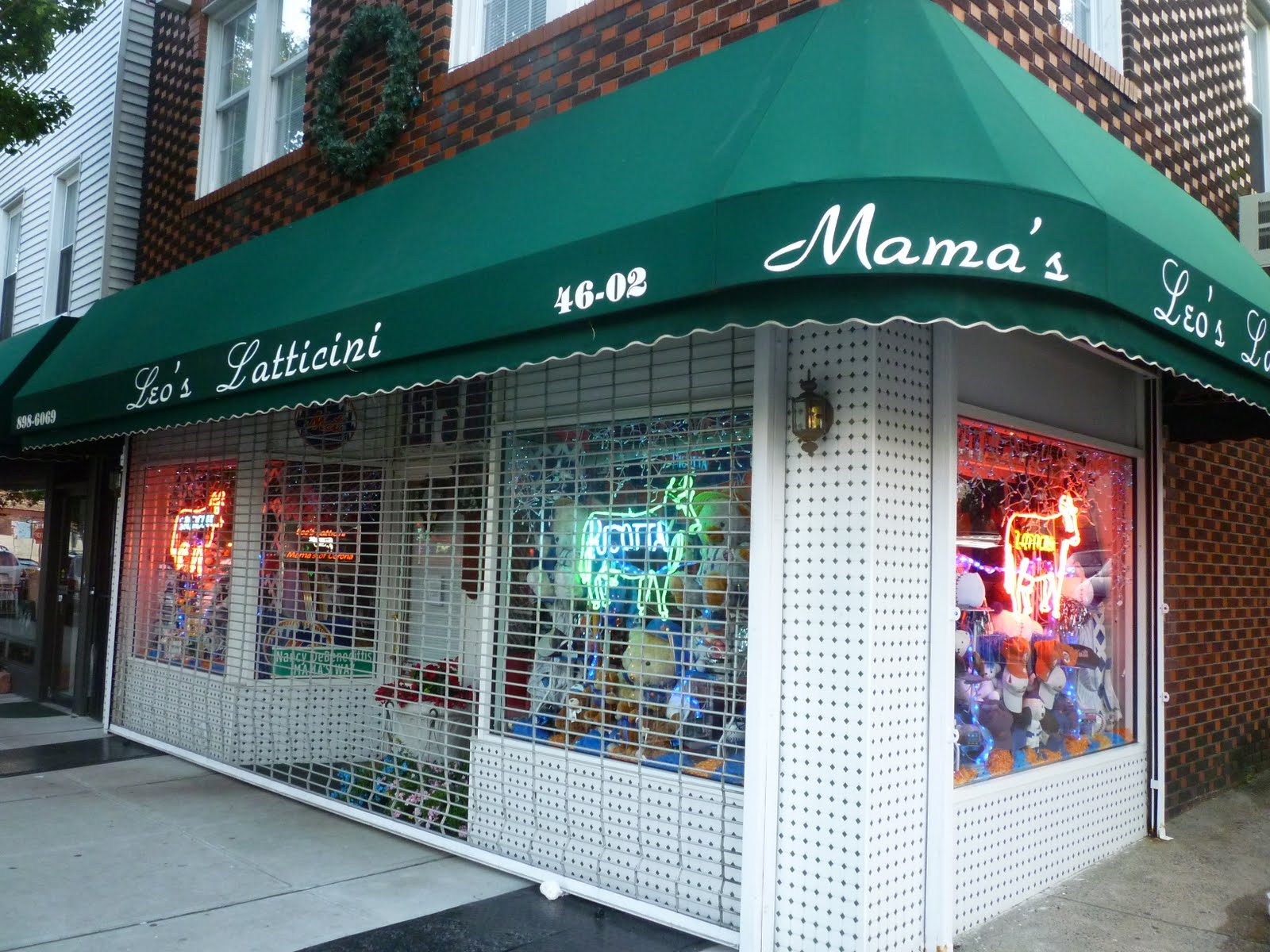 Leos Lattacini Or Rather Mamas Confusing Awning Is Part Of A Mini Empire Italian Businesses Along One Block 104th Street In Corona