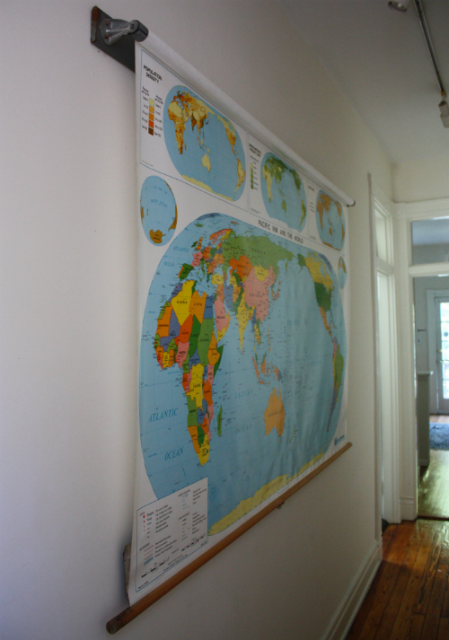 World history hanging our school map 17 apart world history hanging our school map gumiabroncs Gallery