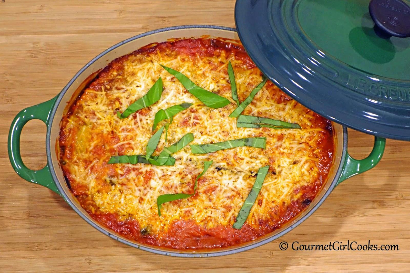 Gourmet Girl Cooks: Tuesday's Eggplant Ricotta Bake