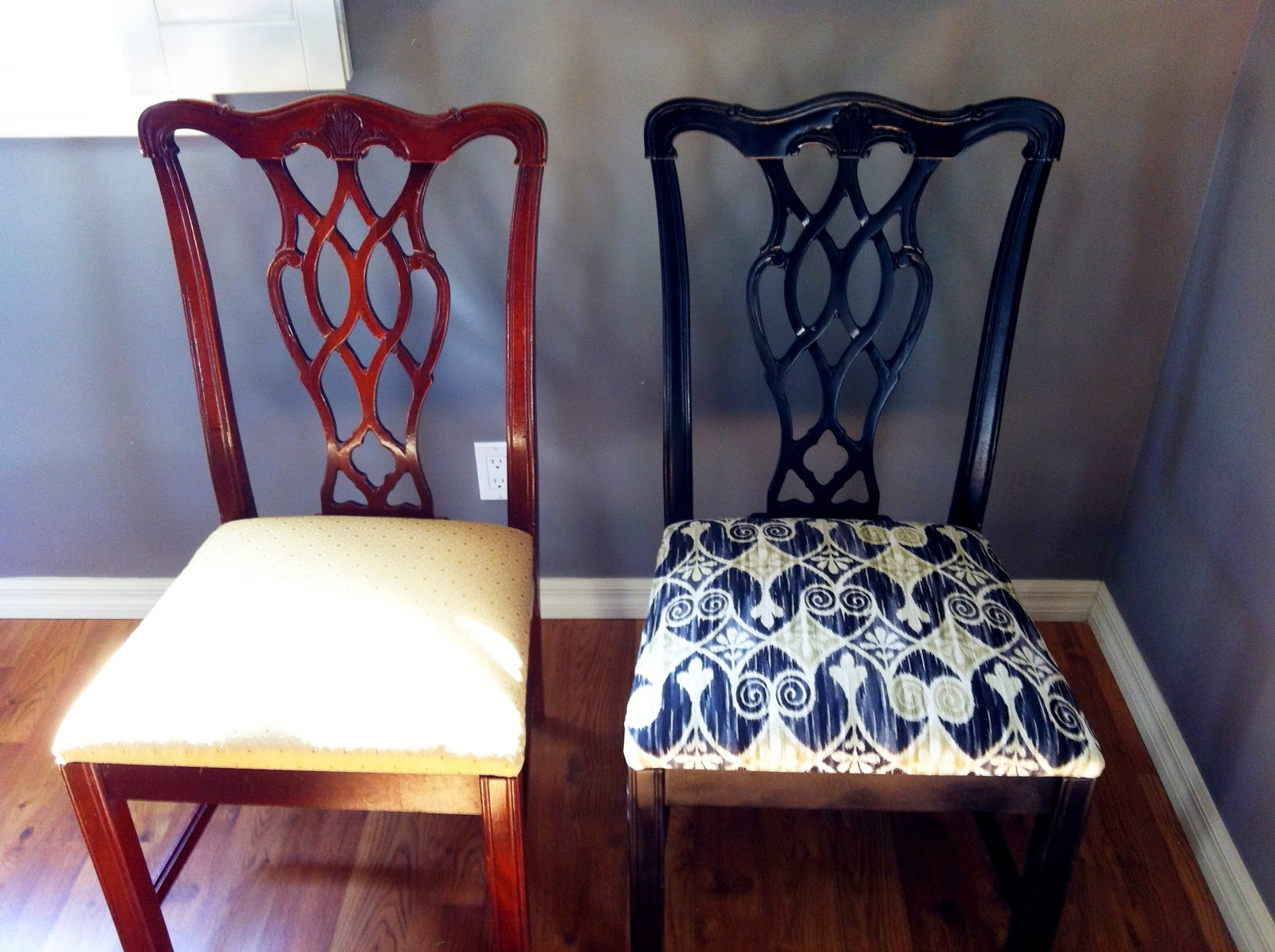 Living My Style DIY Dining Room Chair Makeover : image from livingmystyle.blogspot.com size 1600 x 1195 jpeg 298kB