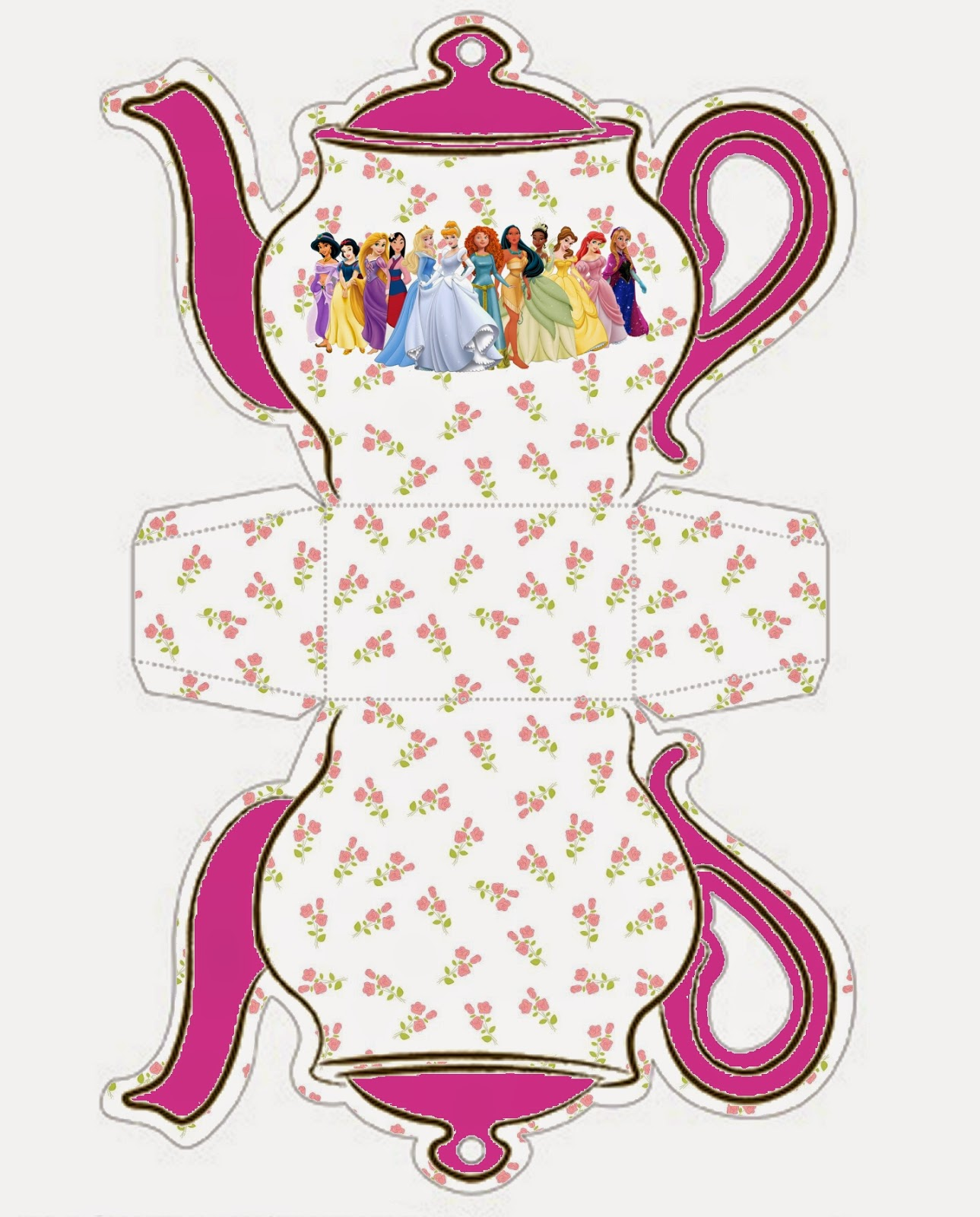 photo regarding Teapot Printable referred to as Disney Princess: Teapot Cost-free Printable Box. - Oh My Fiesta
