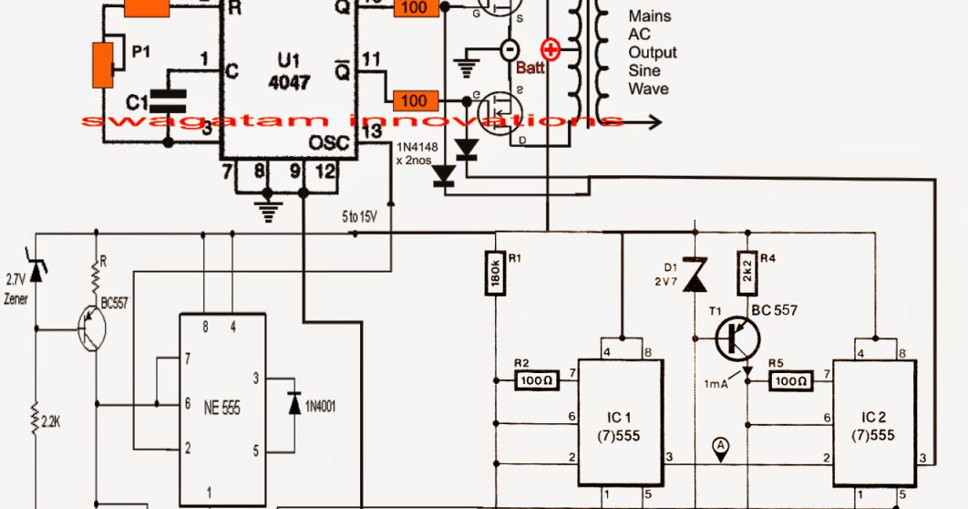 pure sine wave inverter circuit using ic 4047 circuit search rh circuitsearch blogspot com