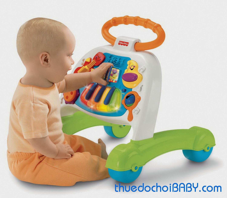 thuê đồ chơi baby, mướn đồ chơi, thuê đồ chơi trẻ em, đồ chơi trẻ em, fisher price, xe tập đi, xe, tập, đi, baby, walker, musical, activity