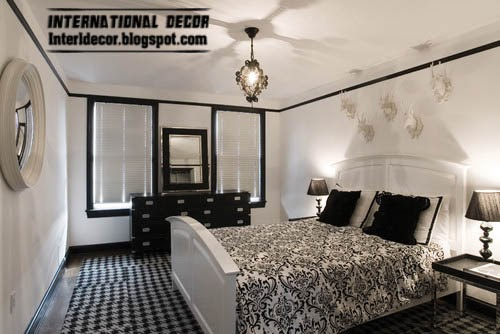 black and white color contrast for small bedroom, small bedroom colors