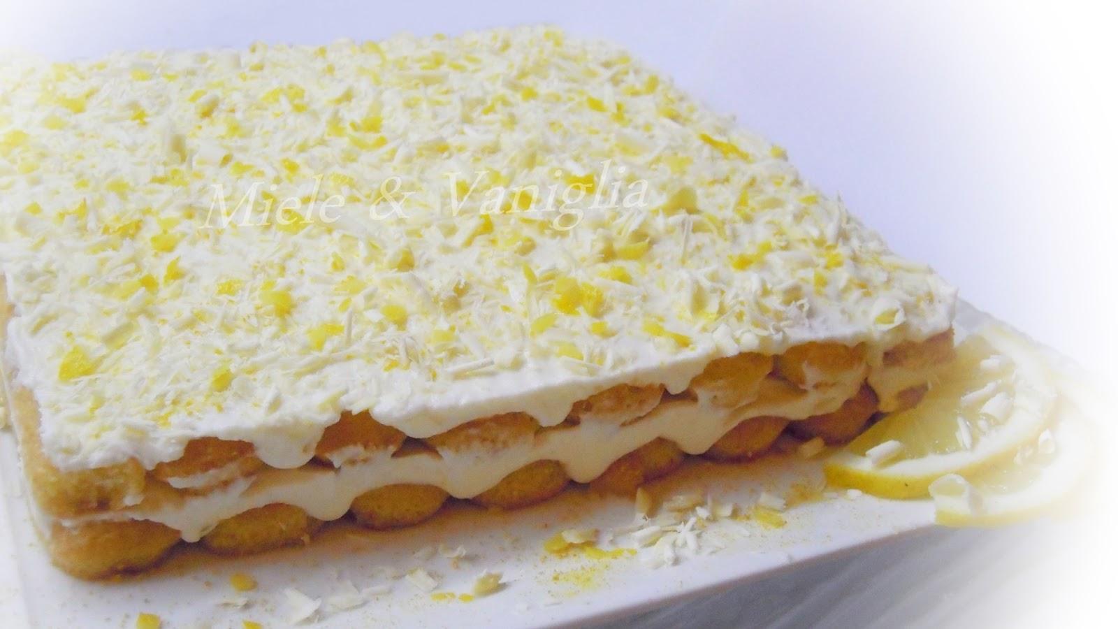 Molto mieleevaniglia: Tiramisù al Limone e Cioccolato Bianco EL59