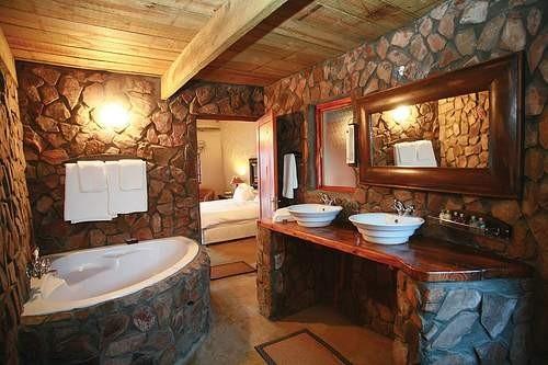 Baño Rustico Con Piedra:Piedra Natural para los Baños