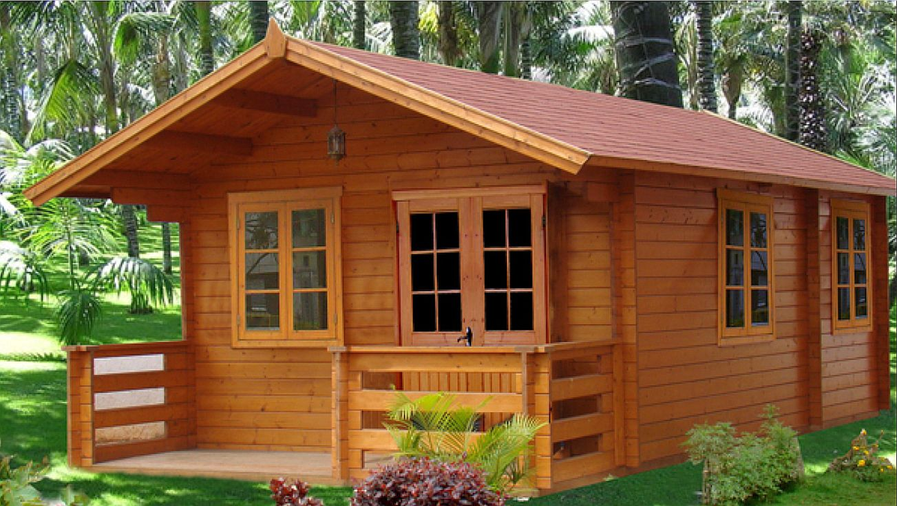 Wooden house design silverspikestudio for Simple outdoor playhouse plans