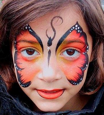 Maquillaje de mariposa para Fiestas Infantiles