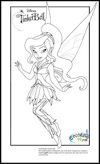 free printable tinkerbell and friends coloring pages for kids