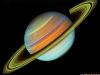 Saturno colorido en el horoscopo