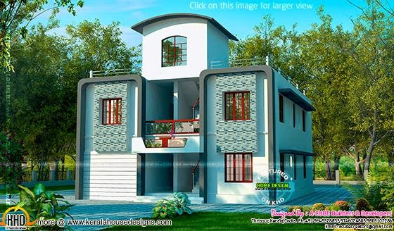 duplex villa exterior kerala home design and floor plans duplex villa exterior kerala home design and floor plans