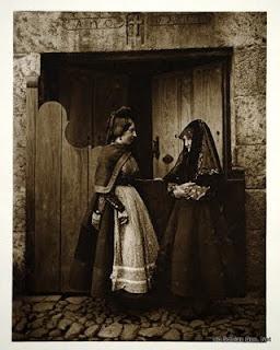 foto antigua de mujeres de Candelario Salamanca