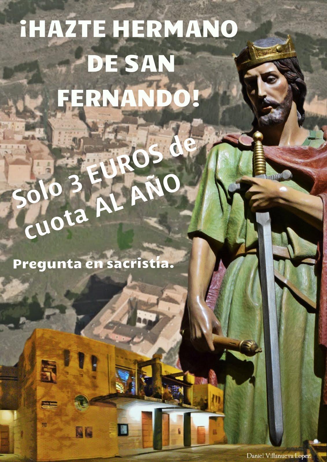 Hazte Hermano de San Fernando. 3 euros al año