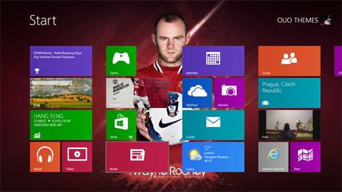 Wayne Rooney Manchester United Theme For Windows 7 And 8