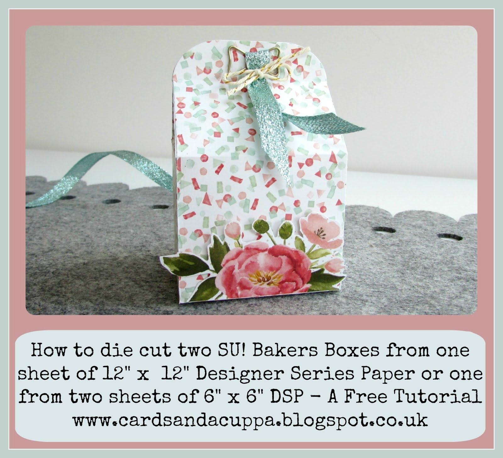"Make the Bakers Box with 6"" x 6"" paper. FREE Tutorial"