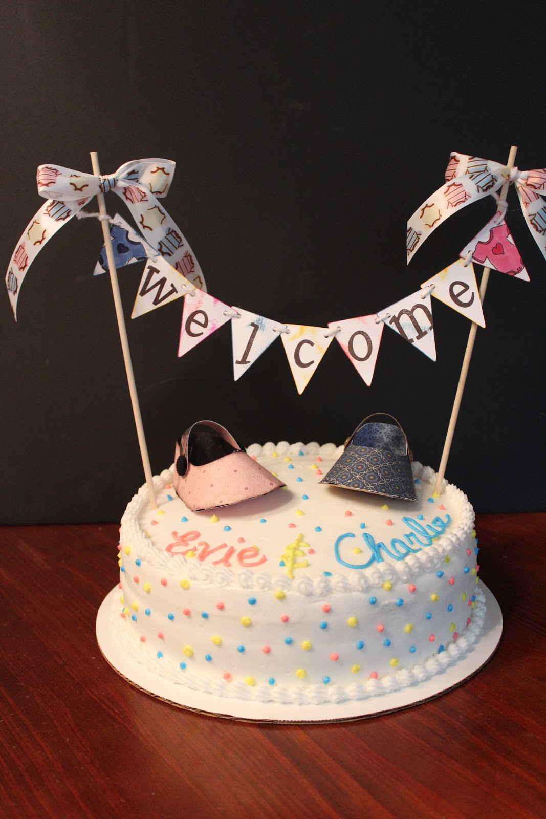 Cake Art Baner : Maria s Paper Craft Place: Twins Baby Shower Cake