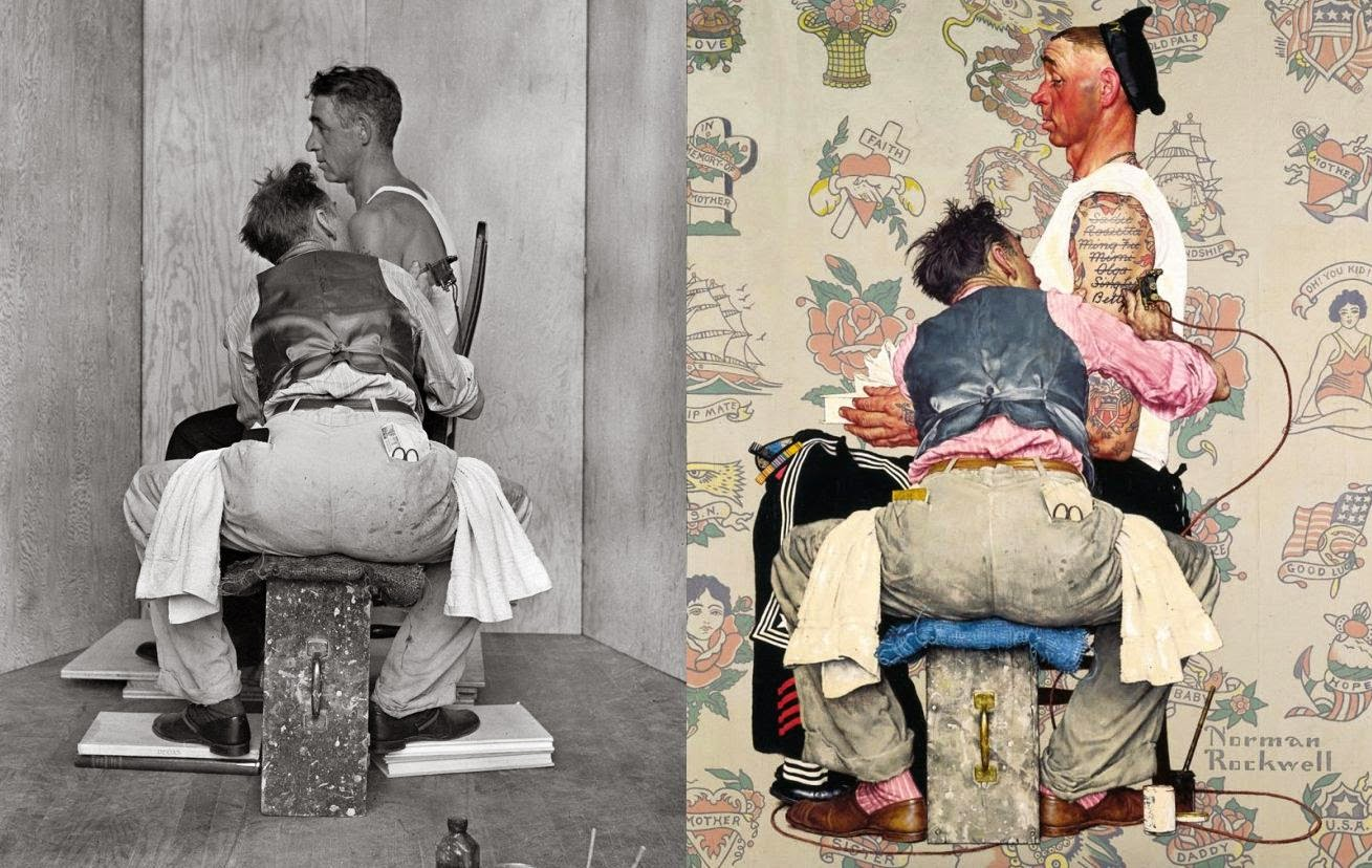 Tattoo Sailor Art by Norman Rockwell Behind the Camera