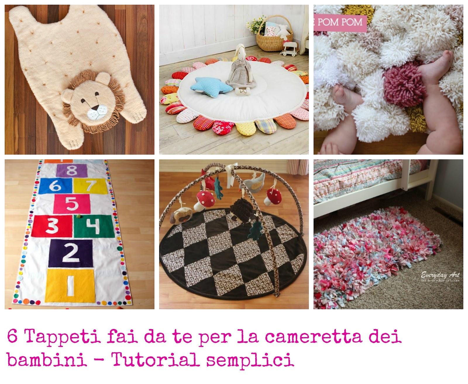 Decorazioni Per Camerette Bambini Fai Da Te : Tappeti fai da te per la cameretta dei bambini tutorial semplici