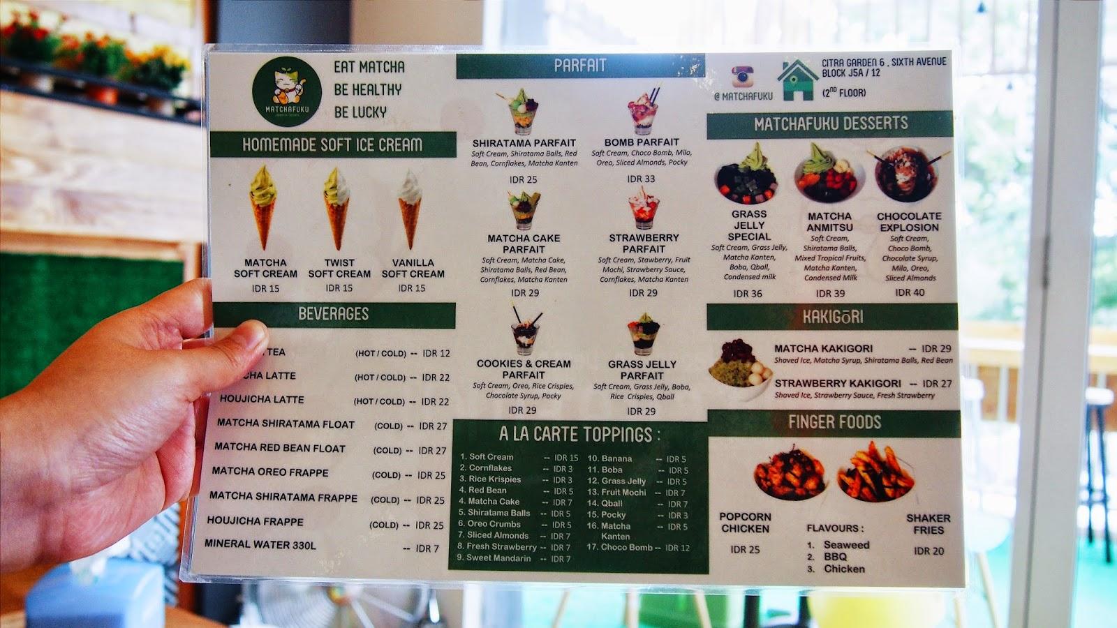 Ice Cream Store Menu Green Tea Ice Cream Store