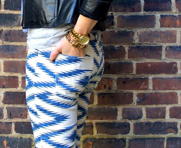 southwestern print jeans, ikat print jeans