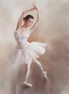 Acuarelas de Bailarinas de Ballet Arte