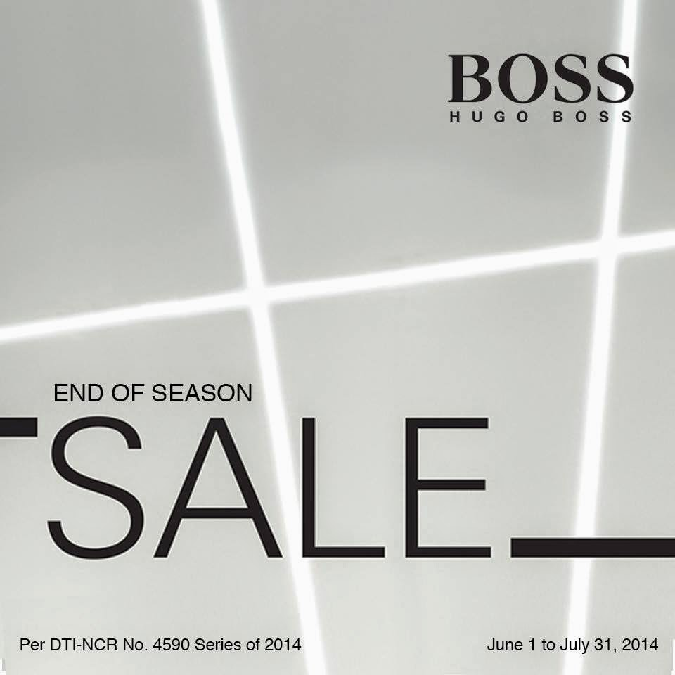 manila shopper hugo boss end of season sale june july 2014. Black Bedroom Furniture Sets. Home Design Ideas