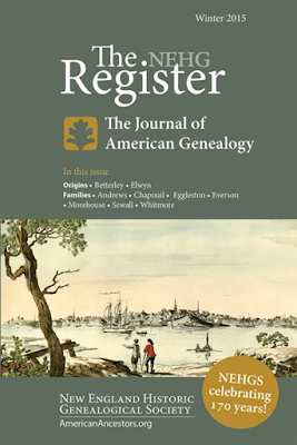 "New England Historic Genealogical Society (NEHGS) Announces Changes in Content and Design of the ""Register,"" Its Scholarly Journal First Published in 1847"